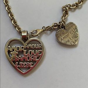Tous Amore silver heart chain necklace